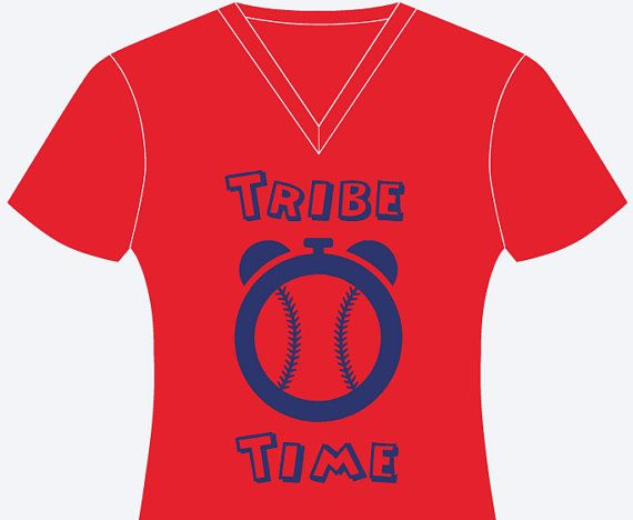 Cleveland Indians Womens Tribe Time T-Shirt by AvaDolceDesign