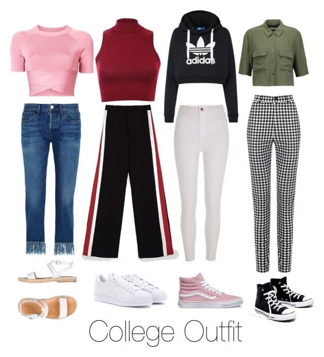 """""""Simple College Outfit"""" by hello-ptrsup on Polyvore featuring 3x1, River Island, adidas Originals, T By Alexander Wang, Madewell, Pilot, Equipment, n.d.c., Vans and simple"""