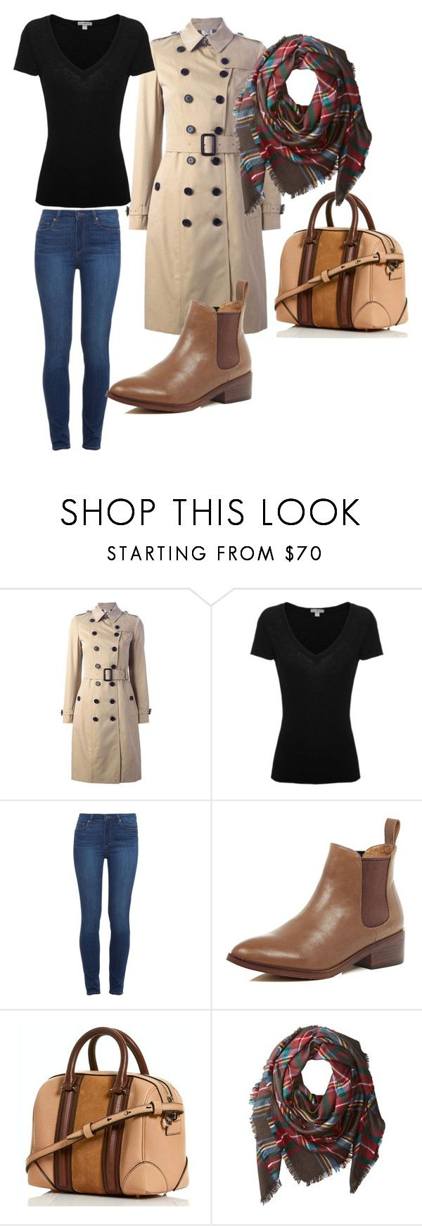 trench for all by ve-safarova on Polyvore featuring James Perse, Burberry, Paige Denim, River Island and Buji Baja