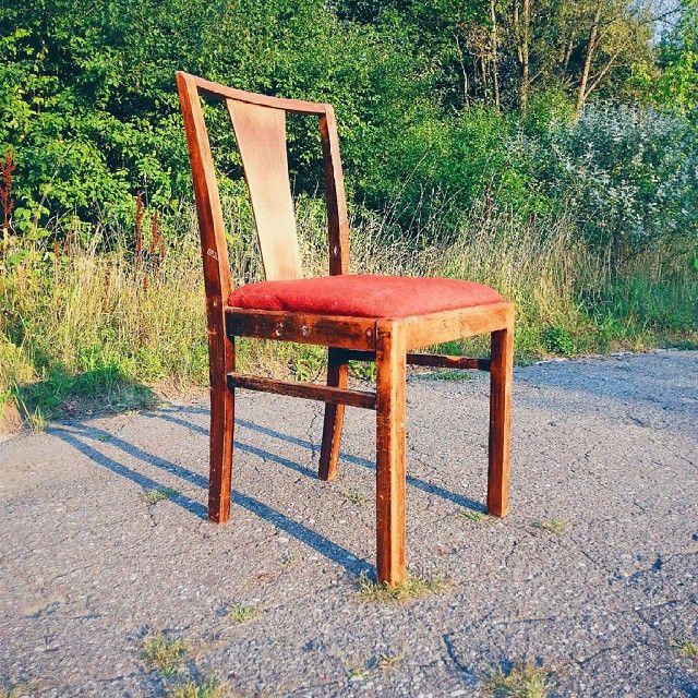 Nice old chair 30s / 40s #vintage #interiors #industrial #design #loft #retro #vintageshop #sklepvintage #poznan  #starocie #brocante #old #antiques  #chair #krzesło #stuhl #upcycle #chairs #30s #40s #40er #lata40te #prewar #lata30te #30er #postwar
