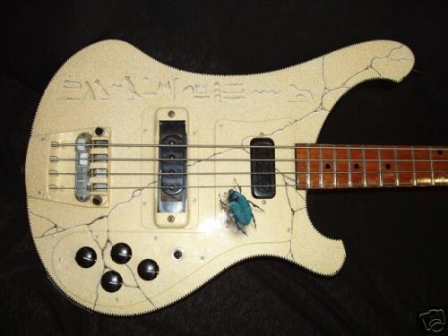 RICKENBACKER 4001 1980s RARE 'black shadow' BASS GUITAR. GARY STRATER STARCASTLE