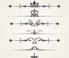 Borderline ornaments retro vector 04
