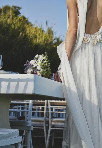Hand made gown by greek designer Melina Pispa