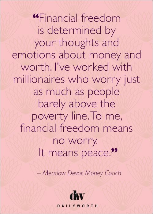 Do you have financial freedom?