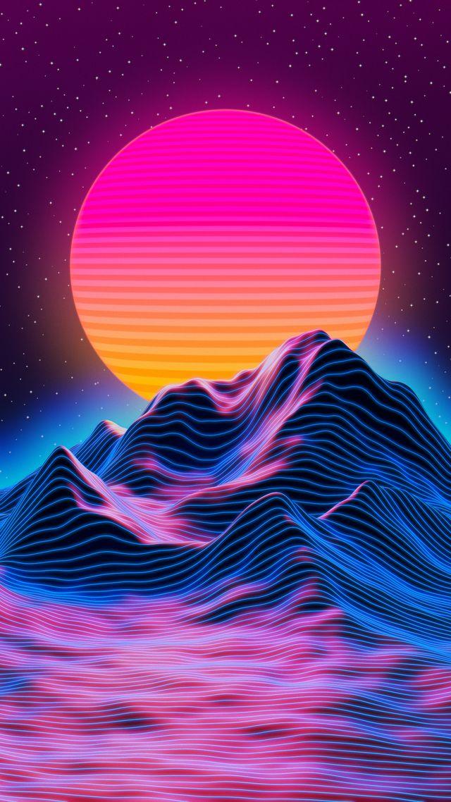 Retro sunset Blender + GIMP blender in 2020 Vaporwave