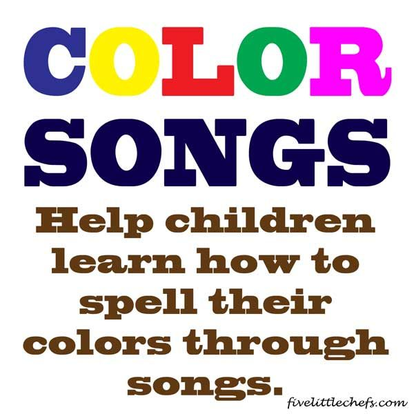 I have used these songs to teach my kids how to spell their color words. It actually works!