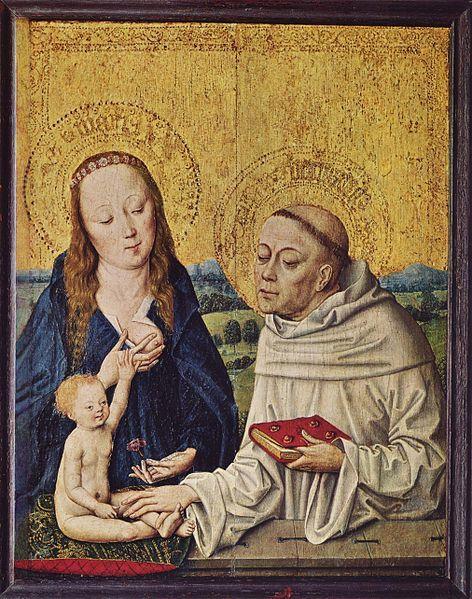 Maestro della Vita di Maria - Madonna col Bambino e San Bernardo ( 1480 )