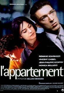 L'Appartement (English: The Apartment) is a 1996 French film directed by Gilles Mimouni and starring Vincent Cassel, Monica Bellucci and Romane Bohringer.