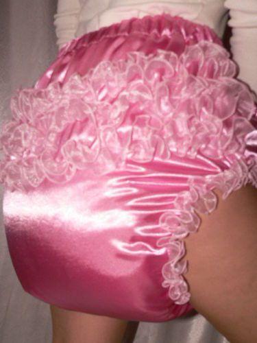 Adult Baby Big Stuffed Spreading Diaper Spreizhose Satin