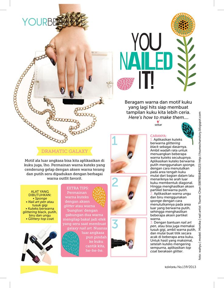 Kawanku Magazine - You Nailed It Photoshoot.  DIY Easy Galaxy Nails Tutorial.  #tsumechan #tsumenodiary #nails #nailart #naildesign #galaxy #DIY #tutorial #easy #nailedit #photoshoot #Kawanku #magazine