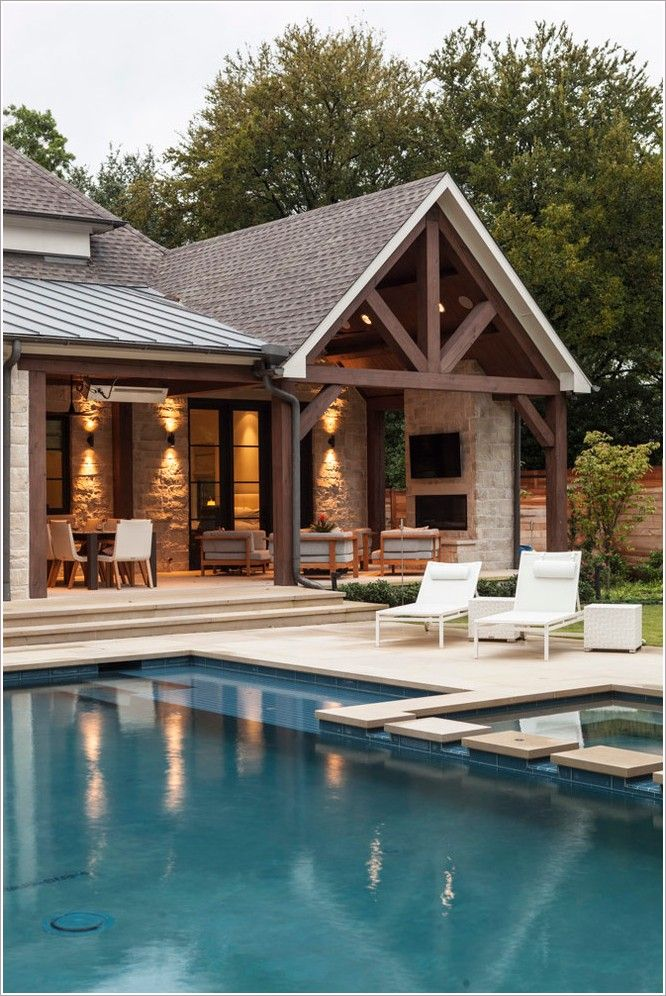 Gray Home Exterior With Wood Beams Google Search Dream