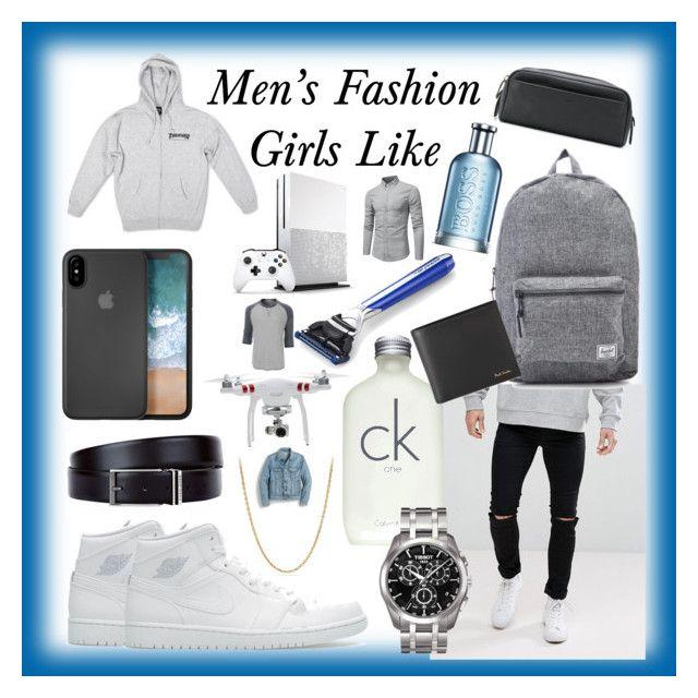 """Men's Fashion Girls like on Guys"" by marinafmorgan ❤ liked on Polyvore featuring Cheap Monday, Calvin Klein, NIKE, Tissot, David Yurman, Herschel, Paul Smith, HUGO, Coach and The Art of Shaving"