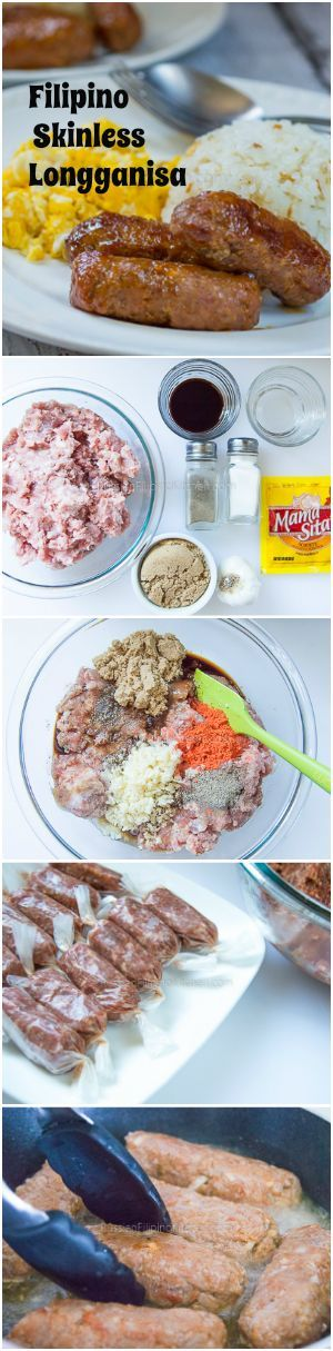 Filipino-style breakfast sausage made from pork with a mild sweet taste. Learn how to make it in this easy step-by-step tutorial.