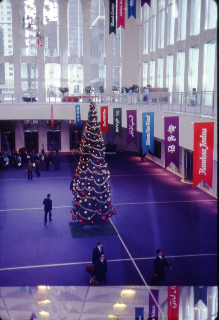 17 best images about 9 11 world trade center flight north tower mezzanine decorated for the holidays circa 1980 gift of rae ann hoffmann