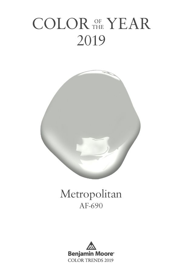 Color Trends Color Of The Year 2019 Metropolitan Af 690 Benjamin Moore Sophisticated Paint Color Paint Colors For Home Benjamin Moore Colors