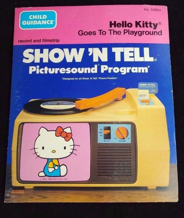 Child Guidance Show' N Tell Record Filmstrip Hello Kitty Goes to the Playground #ChildGuidance