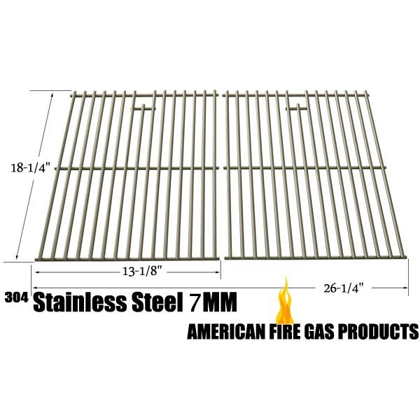 2 PACK STAINLESS STEEL COOKING GRID FOR BBQ GRILLWARE GGP-2501, CHARBROIL 463247009, COLEMAN G52204, EVEN HEAT, G52202 GAS GRILL MODELS Fits Compatible BBQ grillware Models : GGP-2501 Read More @http://www.grillpartszone.com/shopexd.asp?id=34722&sid=34196