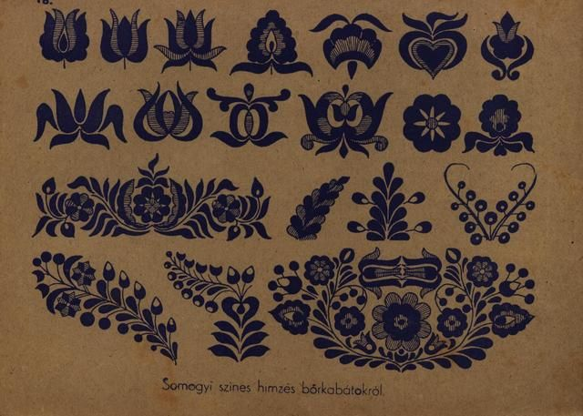 Hungarian Folk art motifs