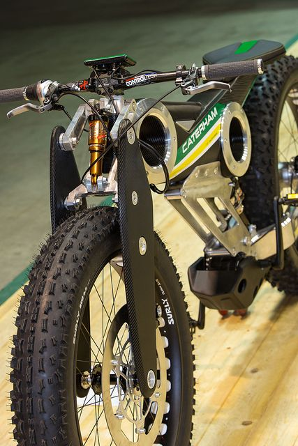 Caterham Carbon E-Bike // not to my aesthetic tastes as a bicycle, but as an electric bike it seems like an expensive but fun alternative to a scooter or moped.