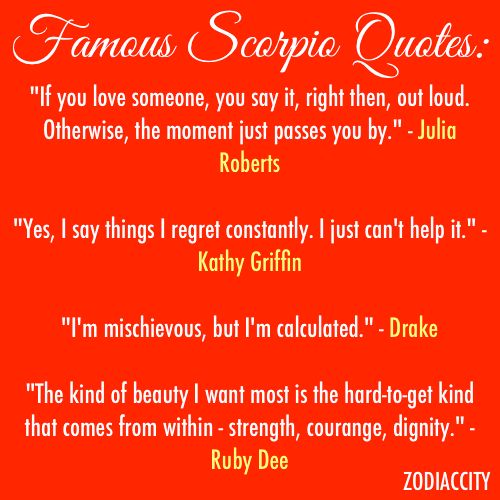 Quotes About Love Relationships: Famous Scorpio Quotes