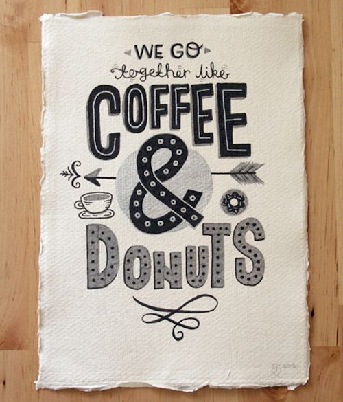 THOUGHT OF THE DAY : COFFEE & DONUTS. - design is mine : isnt it lovely?