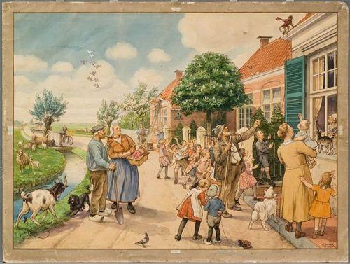 Schoolplaat Cornelis Jetses