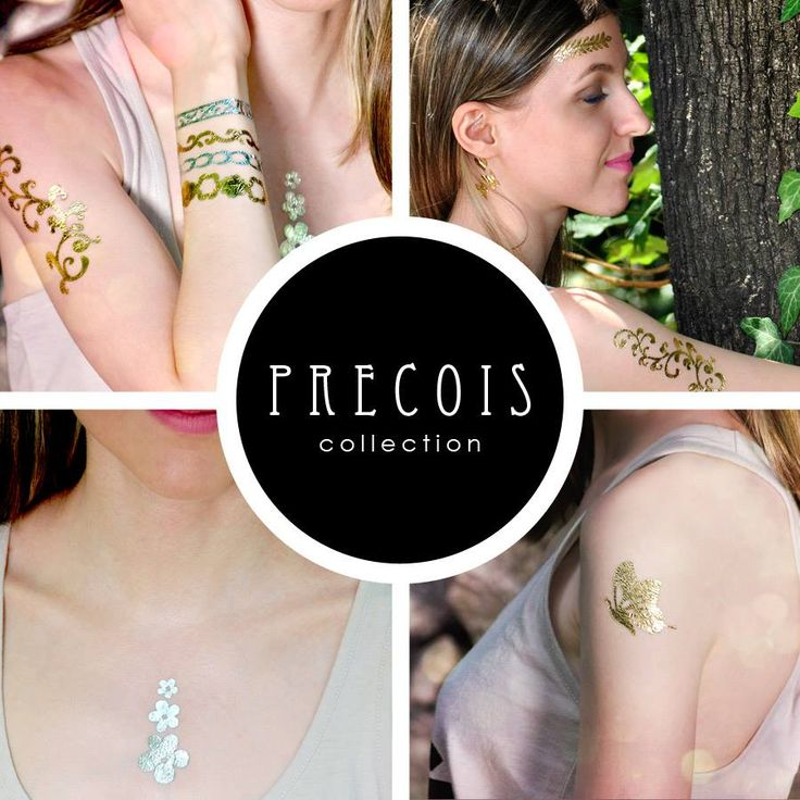 PRECIOUS collection of temporary jewelry tattoo or flash tattoos Gold&Silver @ www.goldtattoo.ro