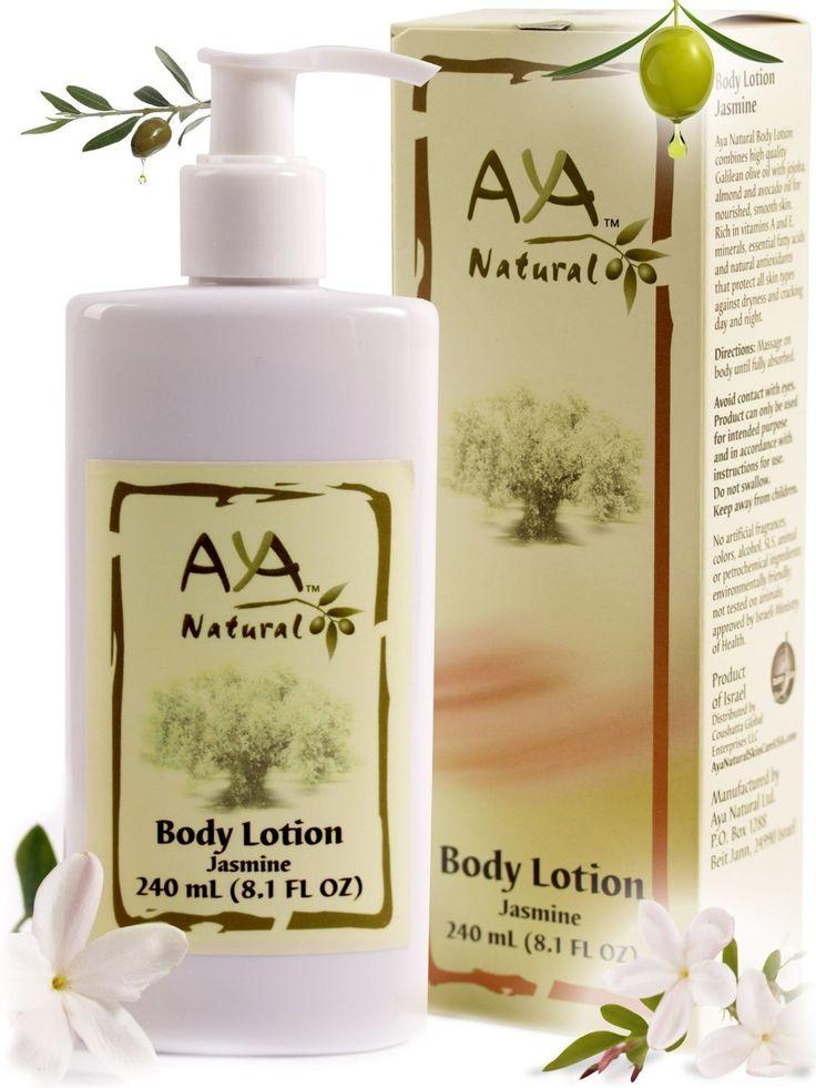 Natural Sensitive Skin Moisturizer - Jasmine Body Lotion for Dry Skin - Natural Vegan Olive Oil Itchy Skin Moisturizing Cream 8.1 oz - Olive, Jojoba, Avocado & Almond Oils Blend