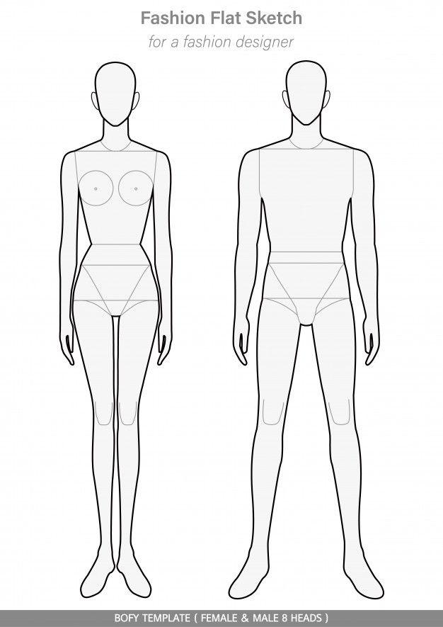 Plantilla De Cuerpo Moda Dibujos Planos Premium Vector Freepik Vector Dise Plantilla Para Diseno De Moda Figurines De Moda Cuaderno De Bocetos De Moda