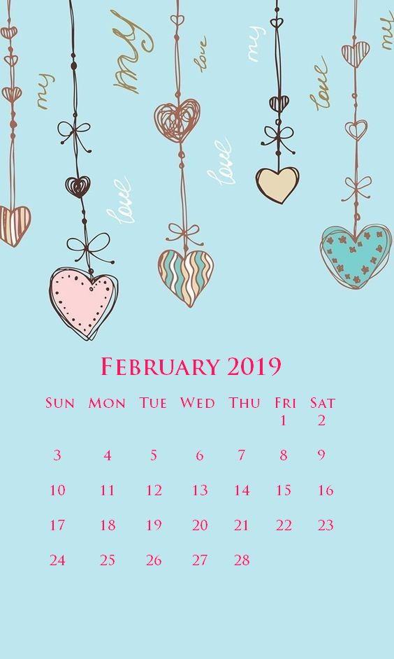 iphone february 2019 calendar wallpapers screensaver