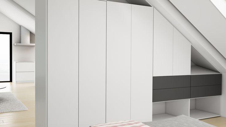 Ático Cangas / equipoeme estudio #urban #design #interiorismo #equipoeme #bajocubierta #renders #armario #diseño