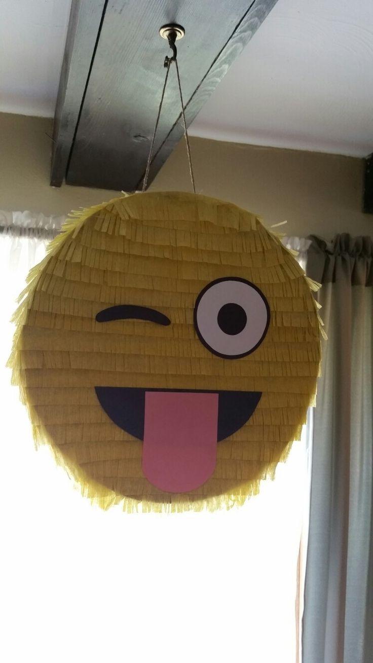 Winky eye emoji pinata