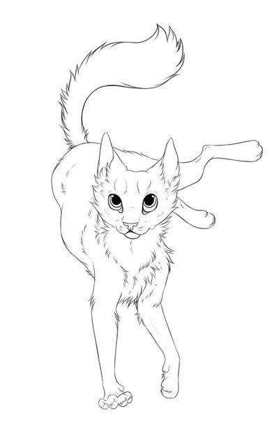 cat lineart  google search  katzen silhouette skizzen