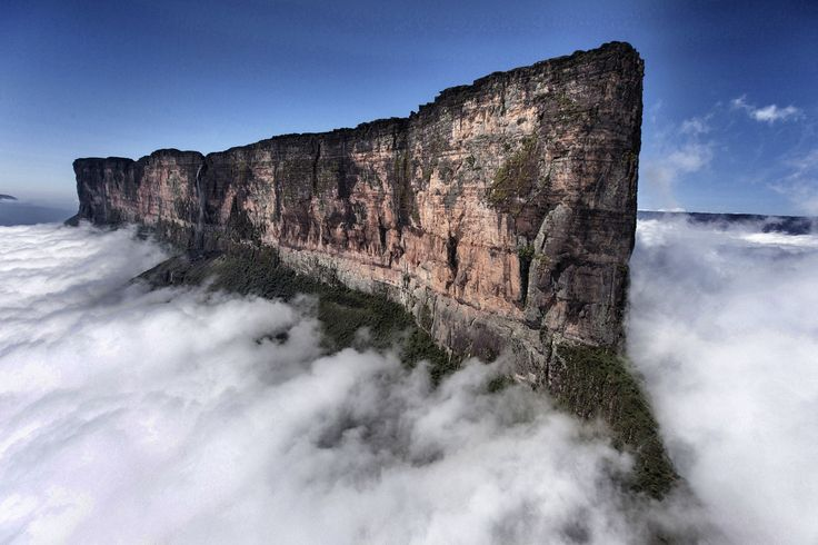 Mount Roraima, one of the oldest mountain formations on Earth, is a natural border between Venezuela, Brazil and Guyana.