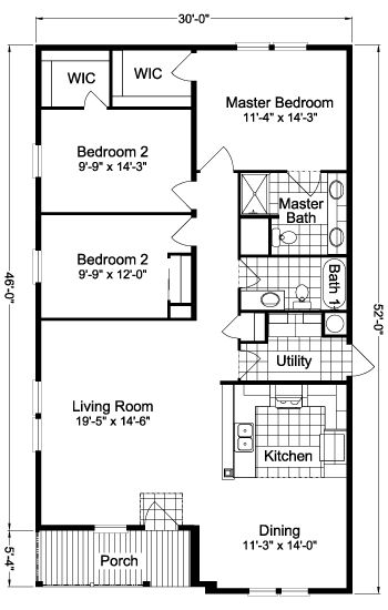 """Cumberland V T3526F Home Floor Plan   Manufactured and/or Modular Floor Plans available floor plan ***swap the kitchen with the """"Malibu"""" and add farmhouse deck"""
