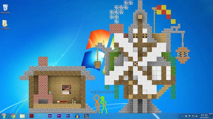 Stick Figures Go Mad With Power After Finding a Minecraft Block in 'Animation vs. Minecraft'