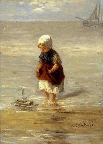 Jozef Israëls (1824-1911). Bootje varen.