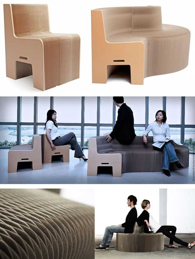 This 100 % Recycled Paper Chair Expand From 1 12 Seats |  Http://www.godownsize.com/paper Chair Sofa Expand 1 12 Seats Recyclable/ |  Pinterest | Small Spaces ...