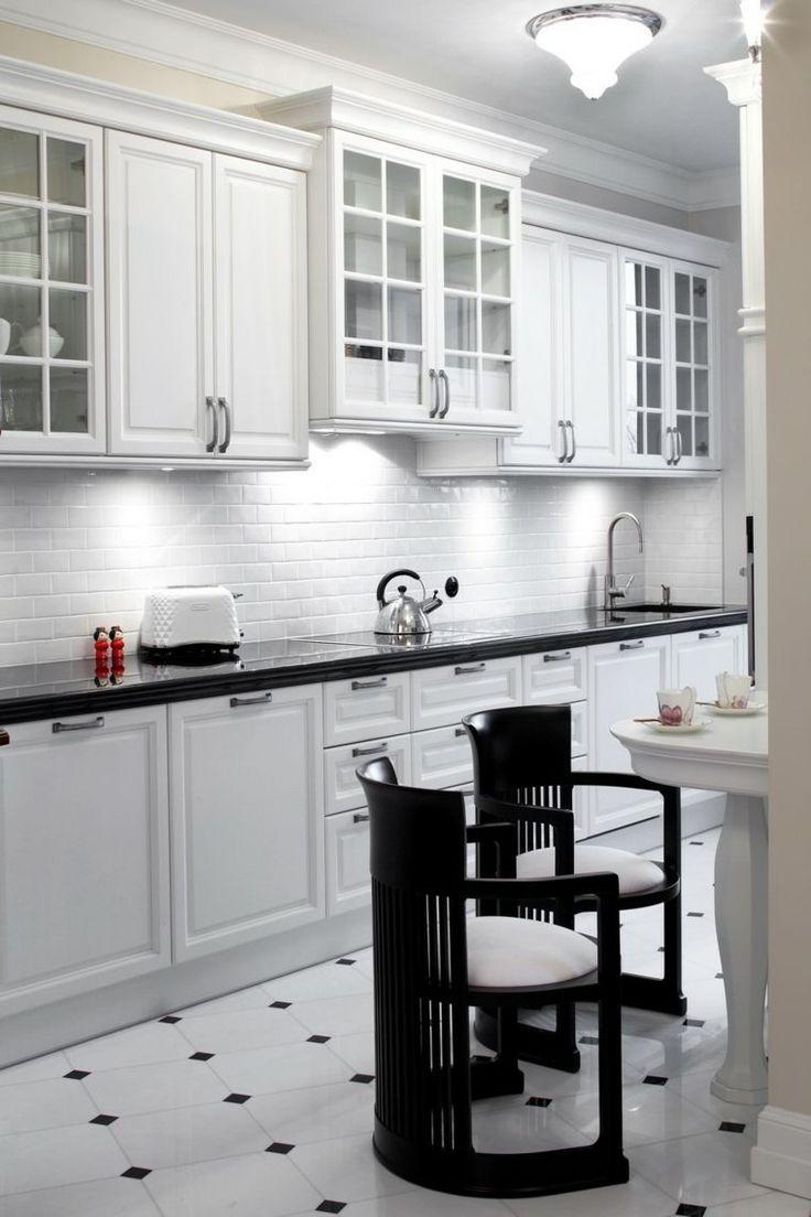 Les Meilleures Idées De La Catégorie Cuisine Noir Et Blanc Sur - Faience blanche cuisine pour idees de deco de cuisine