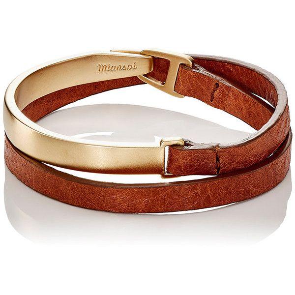 Miansai Men's Moore Half Cuff Double-Wrap Bracelet (610 BRL) ❤ liked on Polyvore featuring men's fashion, men's jewelry, men's bracelets, brown, men's wrap bracelet, mens engravable leather bracelets, mens leather bracelets, mens watches jewelry and mens engraved bracelets