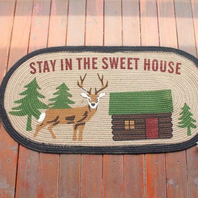 Anti-Slip Natural 100% Jute American Pastoral Style Door Mat