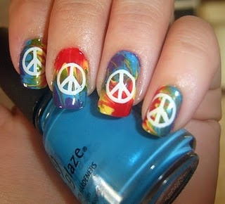 peace nails