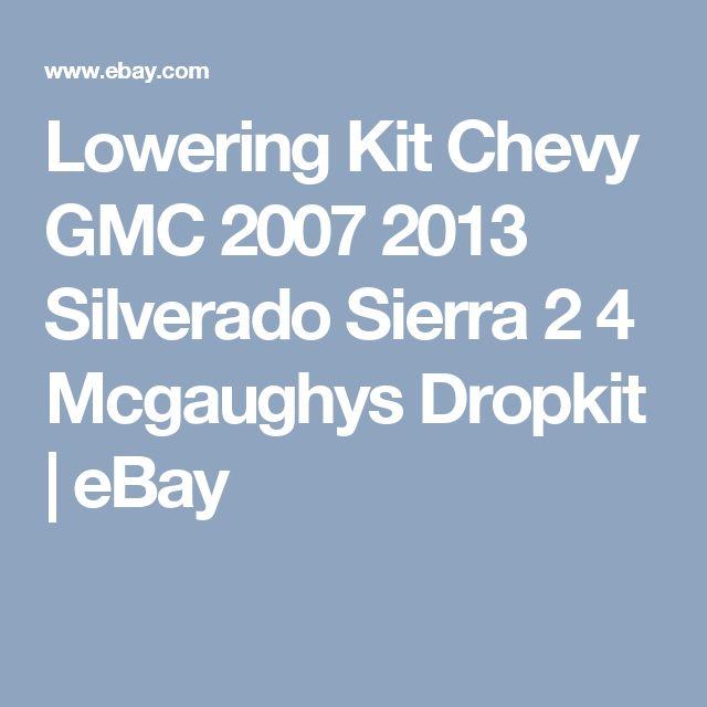 Lowering Kit Chevy GMC 2007 2013 Silverado Sierra 2 4 Mcgaughys Dropkit   eBay