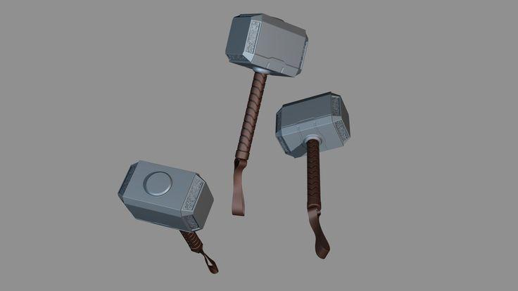 Mjølnir Aka. Thor's hammer, Henning Lande on ArtStation at https://www.artstation.com/artwork/mjolnir-aka-thor-s-hammer