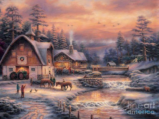 paisajes-navideños-al-oleo