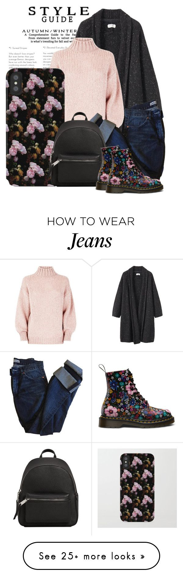 """""""Get The Look: Floral Combat Boots"""" by artbyjwp on Polyvore featuring Toast, Acne Studios, MANGO and vintage"""