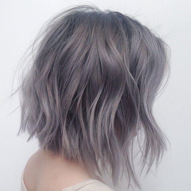 Gray is the New Black... Haircolor by @mizzchoi  Haircut/Style @salsalhair  #hairbysal #hair #haircut #hairstyle #haircolor #grayhair #shorthair #messyhair #sexyhair #coolhair #asianhair #coolhair #texturedbob #bob #lob #trendy #hairfashion #hairtrends #style #ramireztransalon #LA