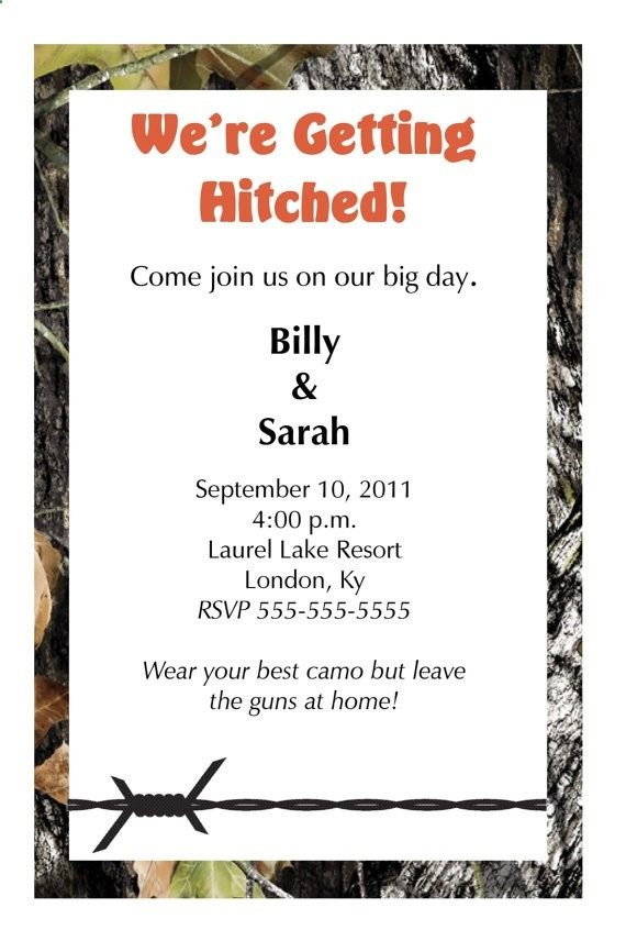 Camo Wedding invites...like em, just not sure if Im redneck enough to do this :)