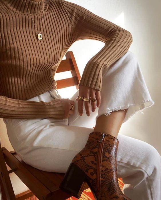 Fall minimal look #jeans