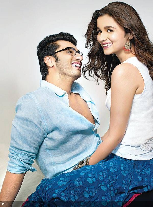 With their colour-coordinated outfits and smiles, Arjun Kapoor and Alia Bhatt certainly look made for each other in this exclusive still from 2 States